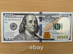 Un $100 2017 A Cent Dollar Note Crisp Uncirculated Bep Pack Brick