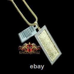 Un Vrai Diamant. 925 Argent Sterling Un Pendentif D'argent De 100 Cent Dollars